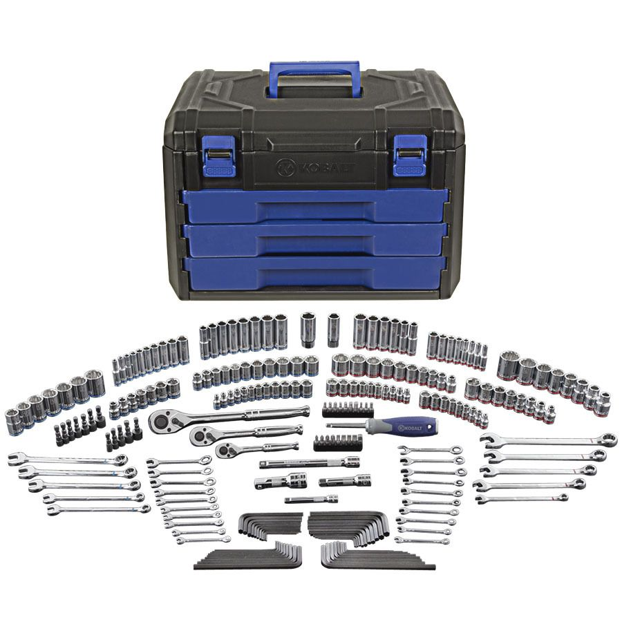 Kobalt 227 Piece Standard Metric Mechanic s Tool Set w Case   Lowes  199 98. Kobalt 227 Piece Standard Metric Mechanic s Tool Set w Case