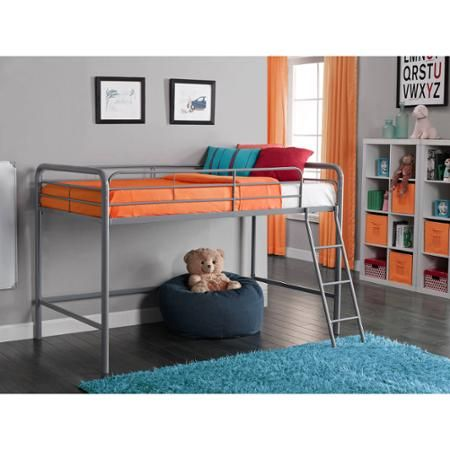 Junior Metal Loft Bed Multiple Colors Walmart Com Junior Loft