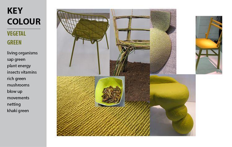 Colour analysis: Vegetal green Milan Design Week 2012,  by Marie PLR design