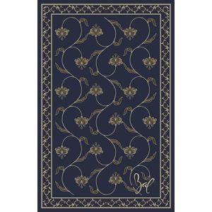 floating irises rug purple - løst tæppe fra Egetæpper