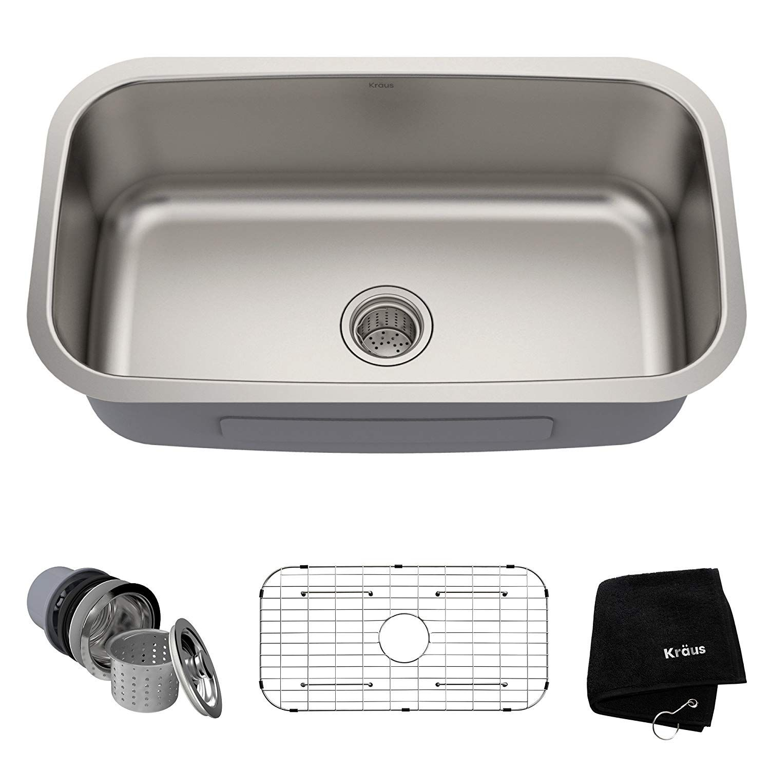 Kraus Kbu14 31 1 2 Inch Undermount Single Bowl 16 Gauge Stainless Steel Kitchen Sink You Can Get More Detail Stainless Steel Kitchen Sink Steel Kitchen Sink