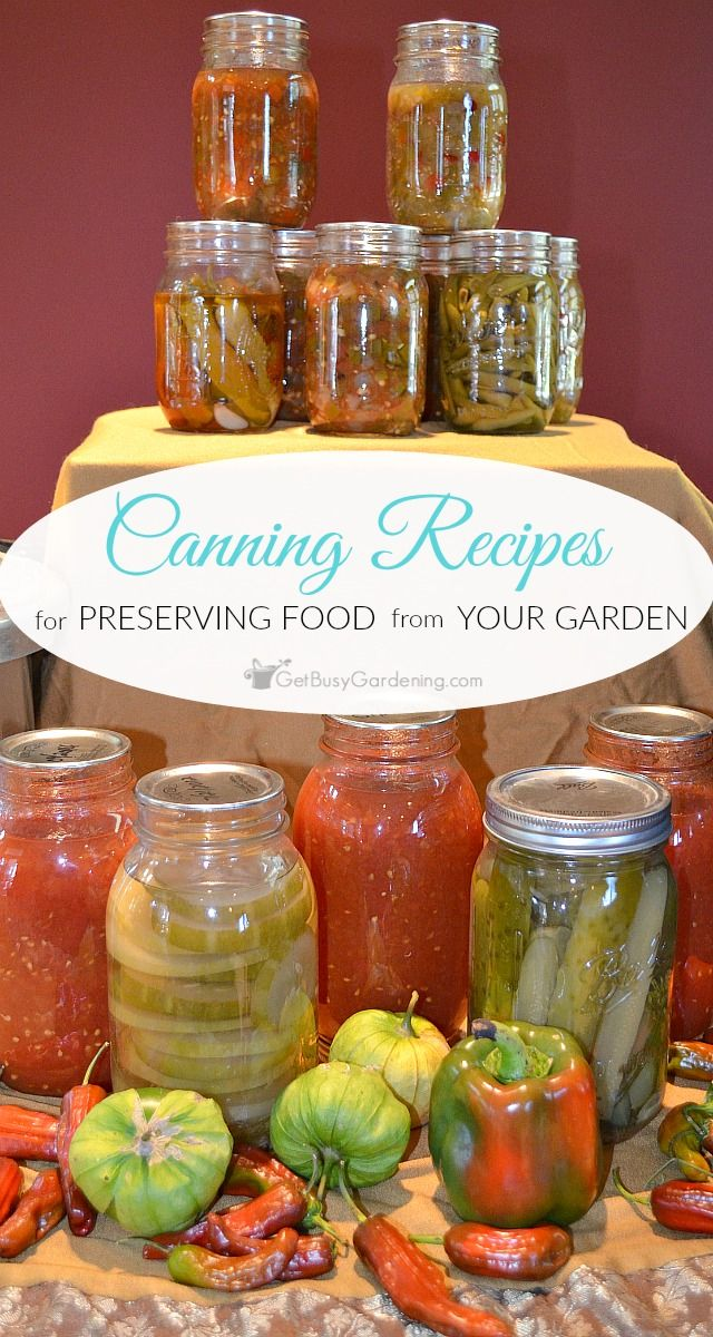 Food canning recipes for preserving food from your garden gardens food canning recipes for preserving food from your garden forumfinder Image collections