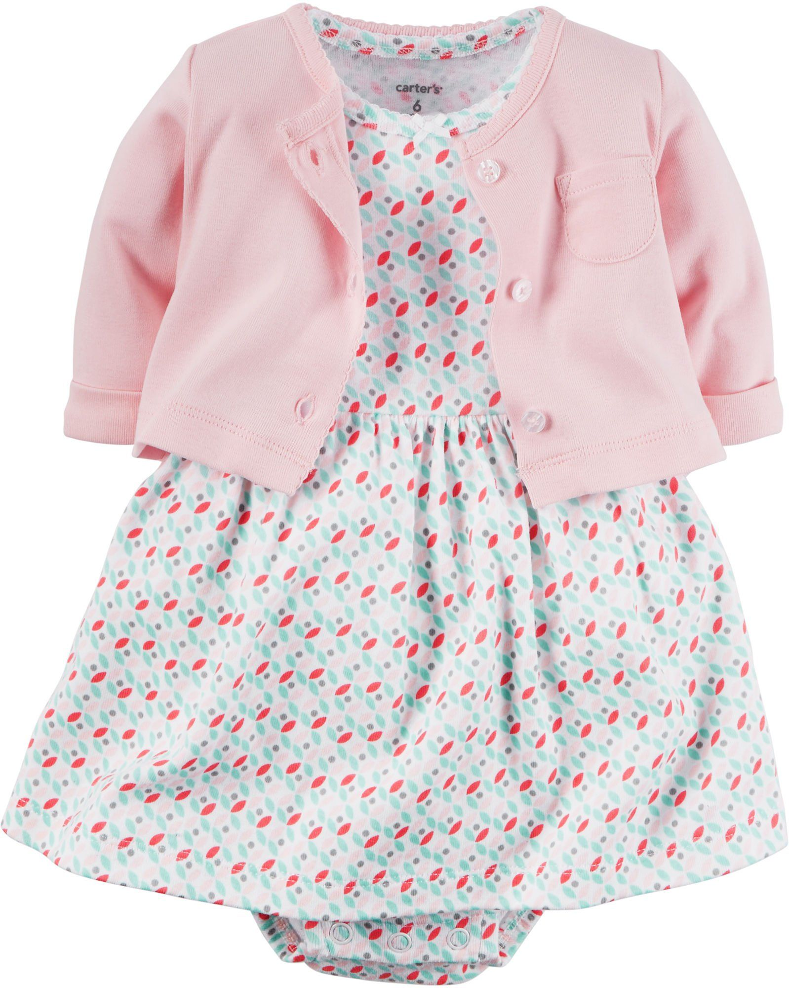 Carter s Baby Girls Dress Sets 126g284 Pink 6 Months Layering