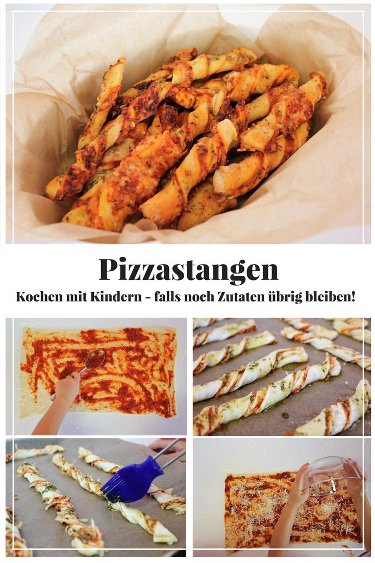 Kochen mit Kindern - Pizzastangen -