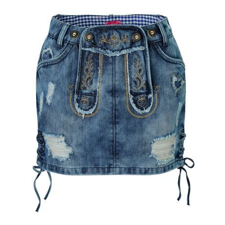 Jeansrock, Used-Look Vorderansicht