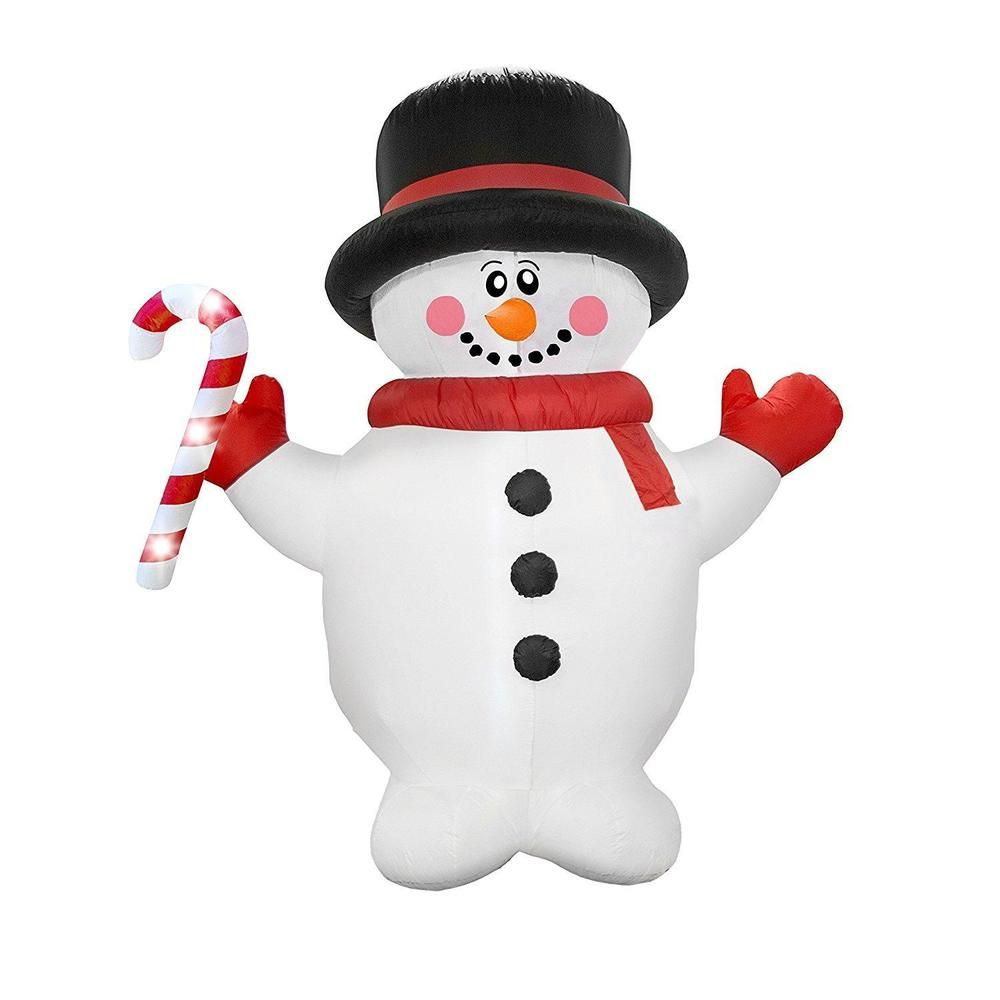 Inflatable Snowman Holiday Yard Decoration Christmas Decor Xmas ...