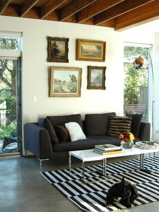 Eclectic decor mixing old and new styles