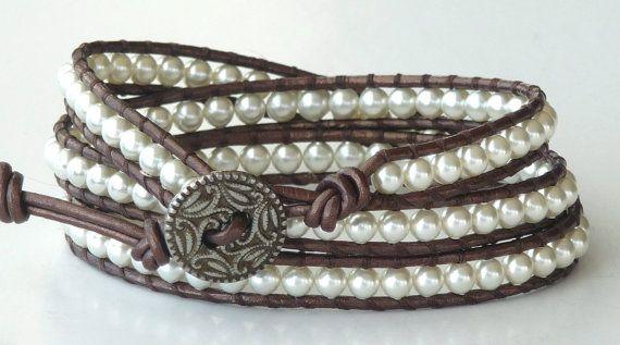 Leather wrap bracelet!