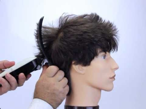 How To Cut Hair Into A Faux Hawk Style Using Freestyla Clipper Guides On Practice Head