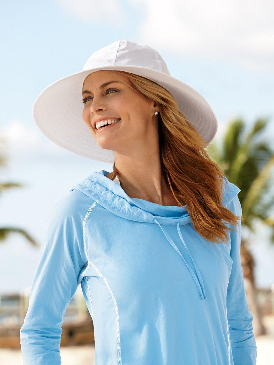 e565fbb89e Wide Brim Crusher - Solumbra: All Day 100+ SPF Sun Protective Clothing -  Style# 47200