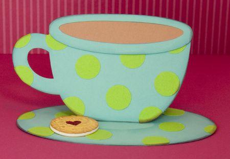 Teacup Easel Card for cardmaking