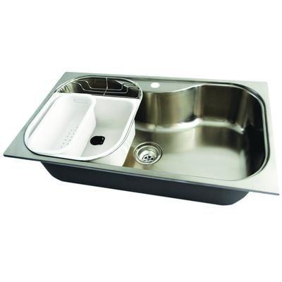 Acri Tec Stainless Steel Large Bowl Kitchen Sink 250807