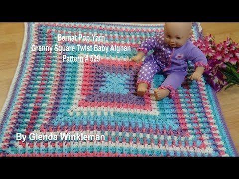 Granny Square Twist Baby Afghan Pattern # 529 Crochet Tutorial ...