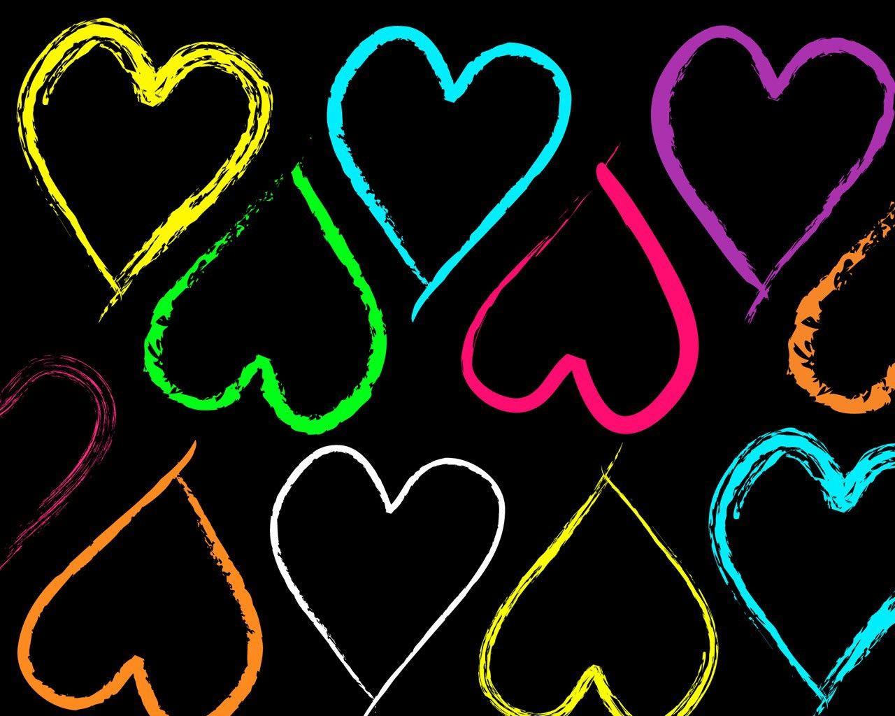 Corazones De Formas Y Colores Diferentes 680776 Jpg 1280 1024