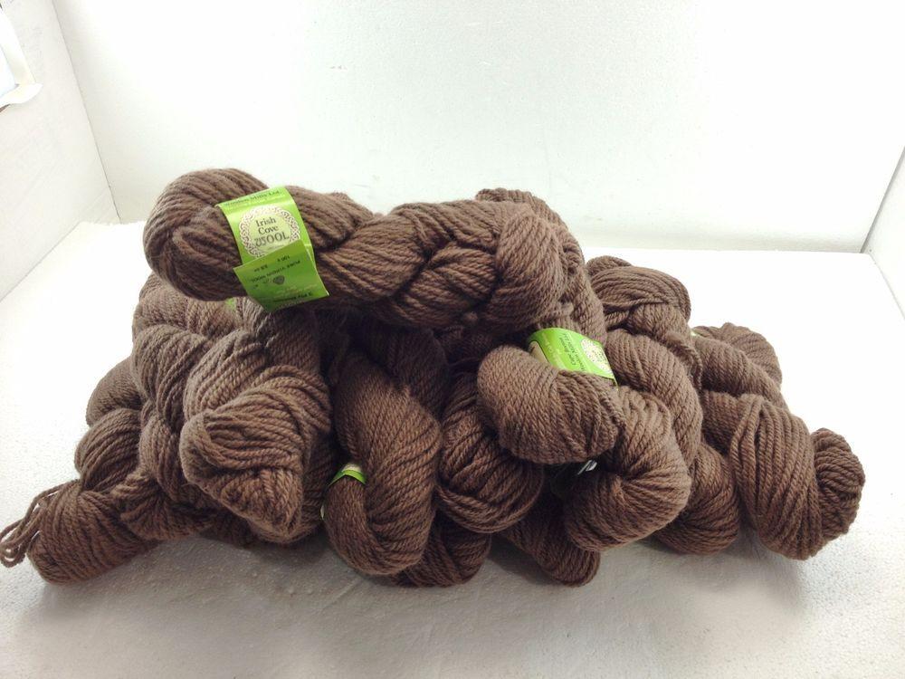 Irish Cove Brown Wool Yarn 14 Skeins 3 5 Oz 100 G New Cape