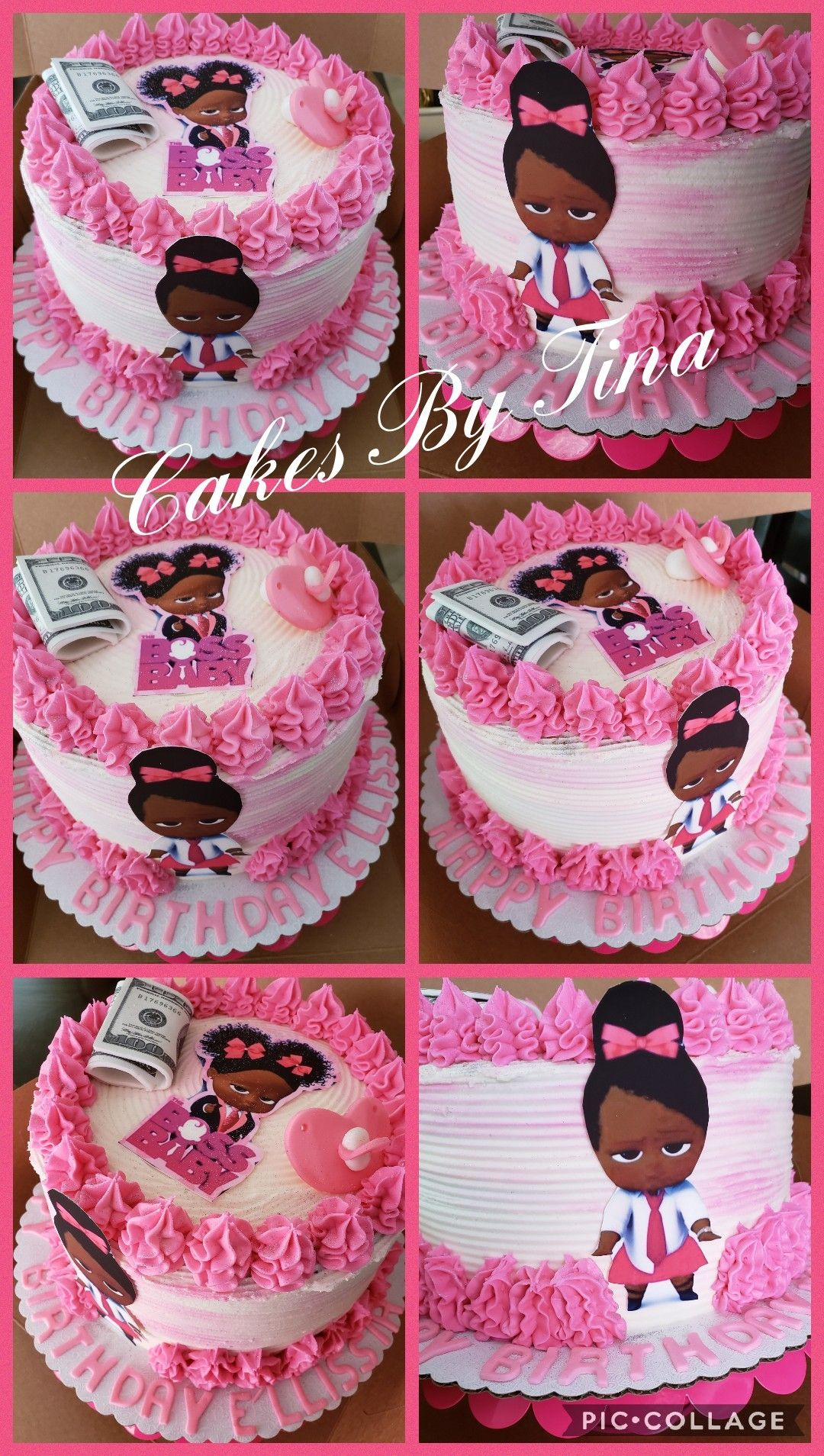 Boss Baby Girl Birthday Cake With Edible Print Baby Girl