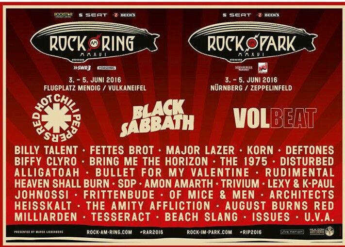 First bands for Rock am Ring and Rock im Park festivals