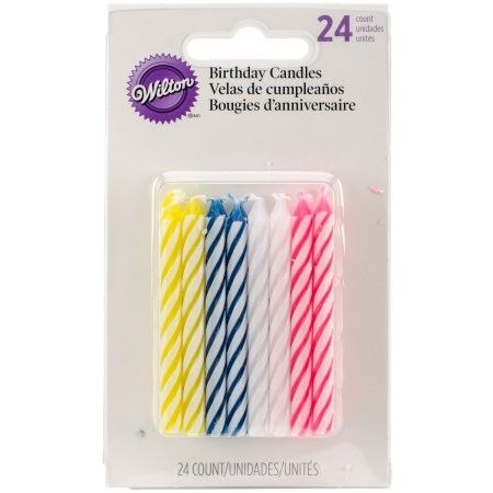 Wilton Celebration Candles Assorted 24 Ct