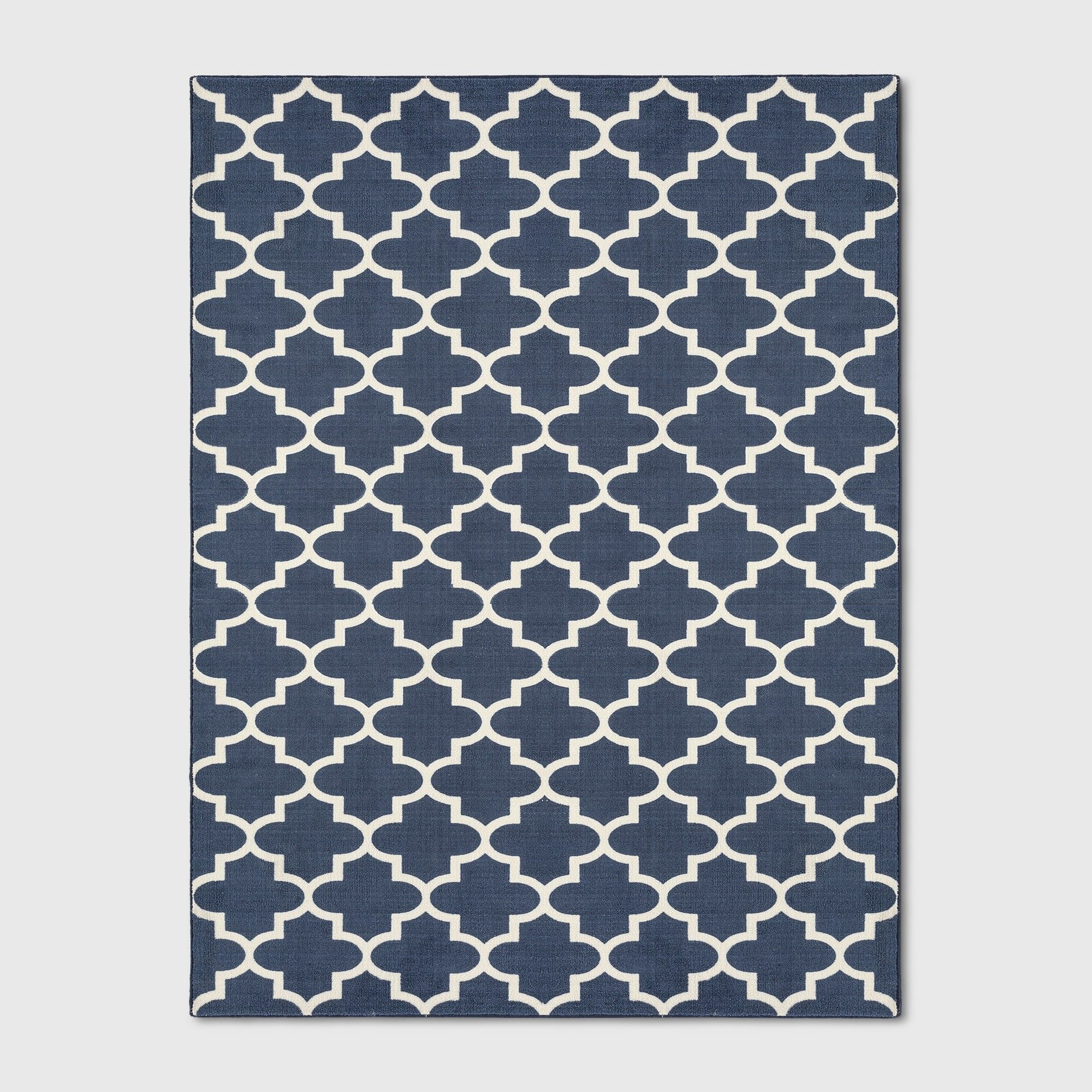 9 X12 Quatrefoil Design Tufted Area Rugs Navy Blue Threshold Blue Blue Navy Rug Area Rugs Rugs