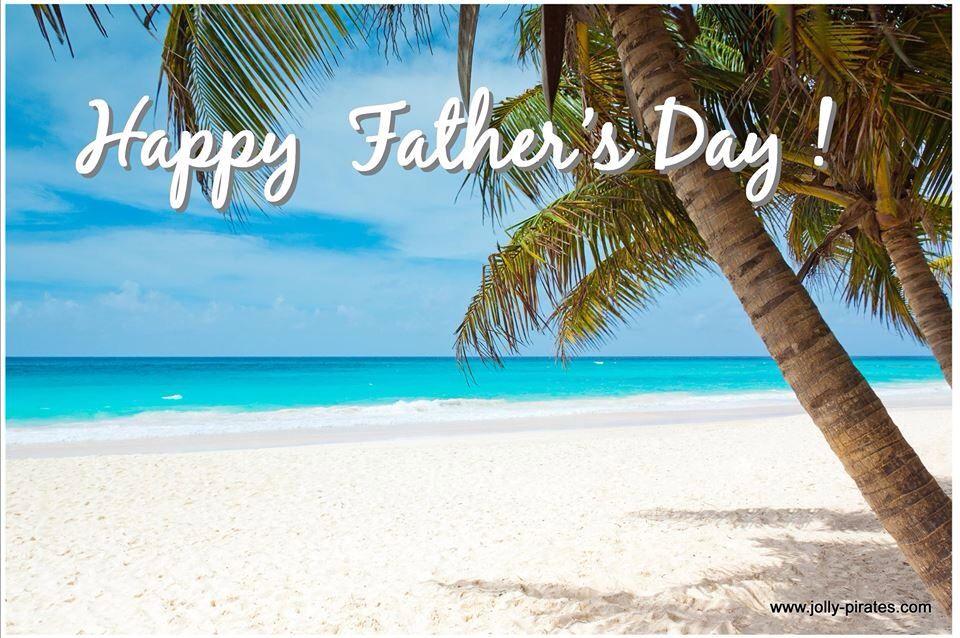 Happy Father's Day Beach Photo