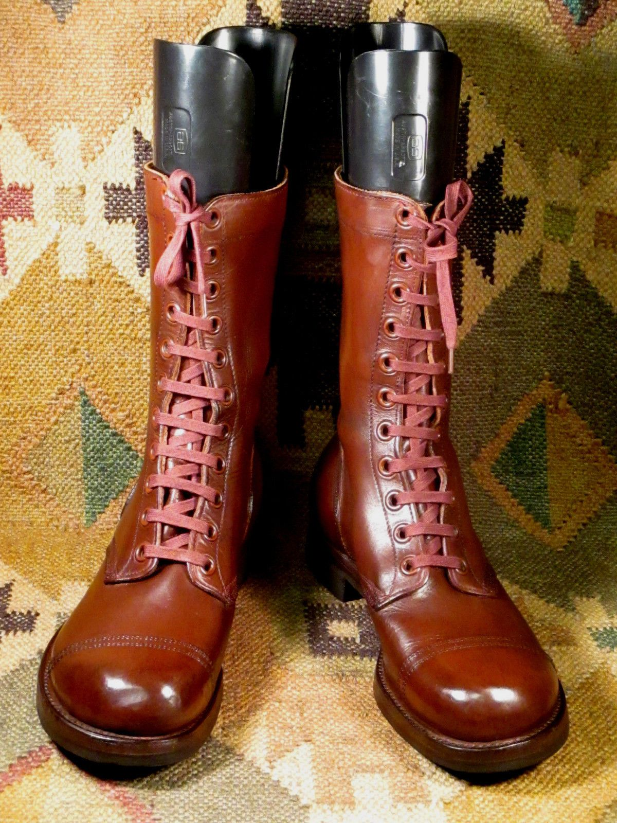 25c92846a6cfb B.F.Goodrich Army Military Brown Leather Combat Boots Mens Size 8EE ...