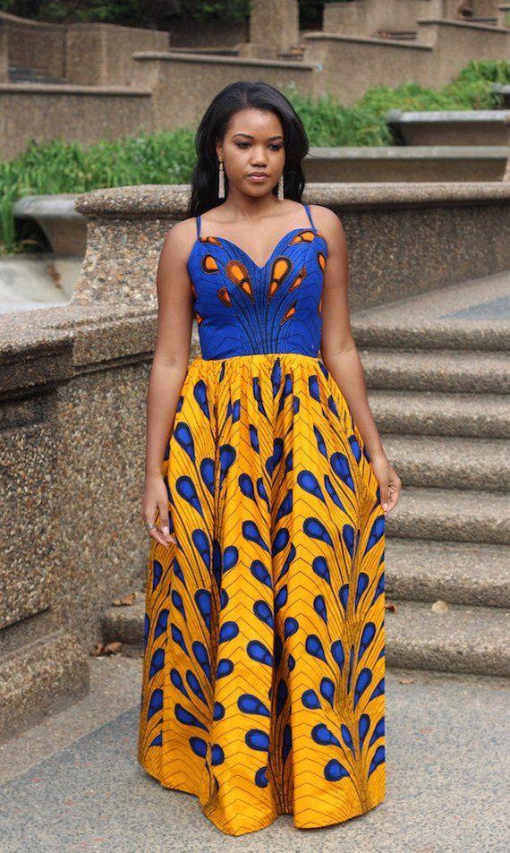 Naomi Maxi Dress – African Ankara Print