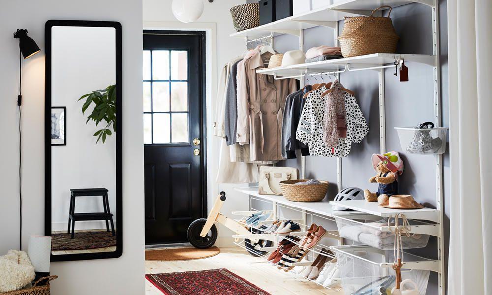 So Gestalten Sie Ihren Flur Wohnlicher Flur Mobel Flur Gestalten Ikea Algot