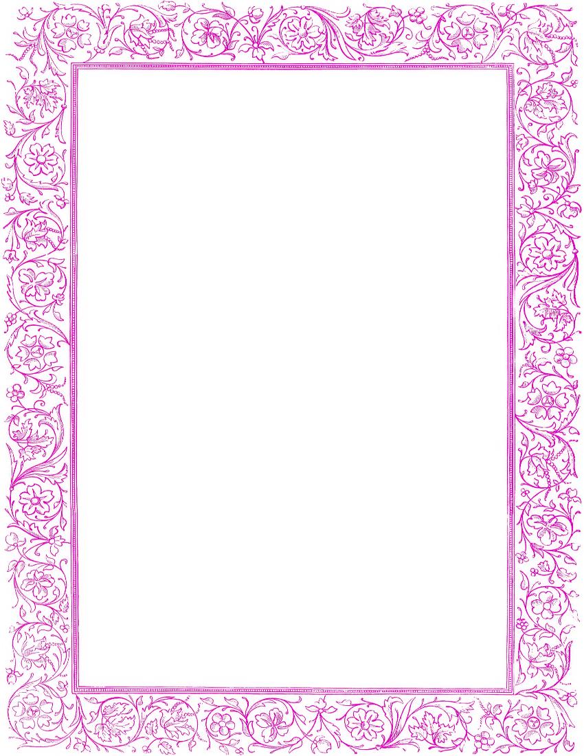 victorian floral border purple printables amp ephemera