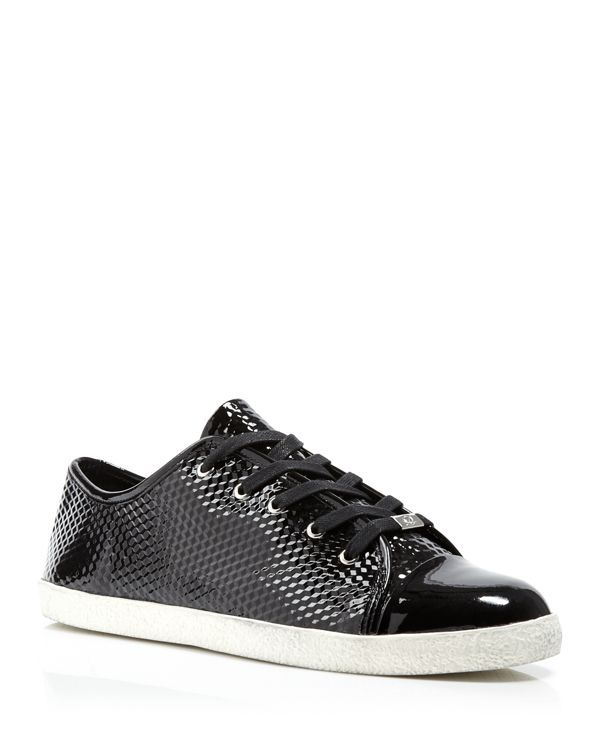 Delman Lace Up Sneakers - Magie Patent