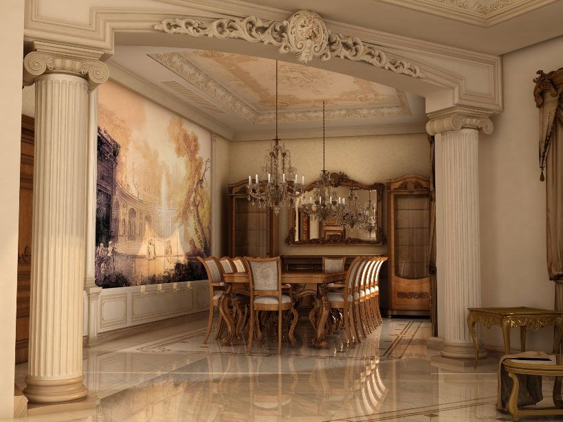 Ashraf El Serafey Villa Interior And Exterior Design Project IdeaTop Best Italian Classic Furniture