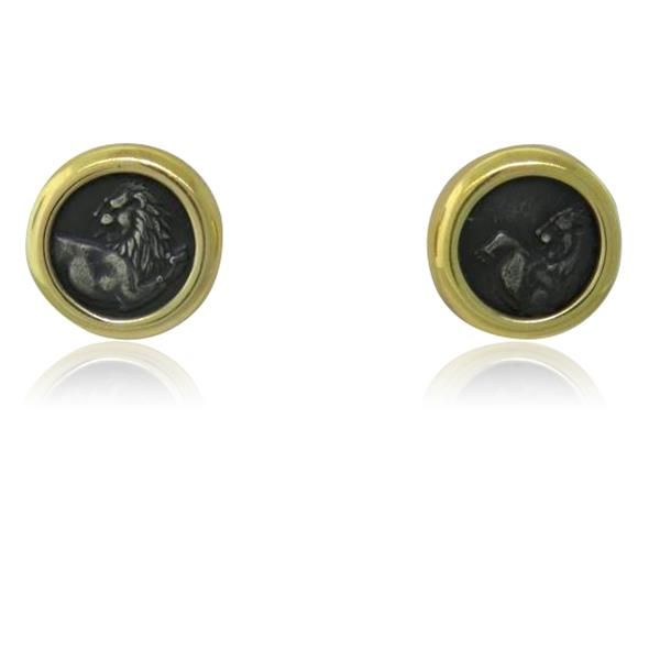 Bvlgari Bulgari 18k Gold Ancient Coin Earrings  Available on our August 11th Auction @ hamptonauction.com
