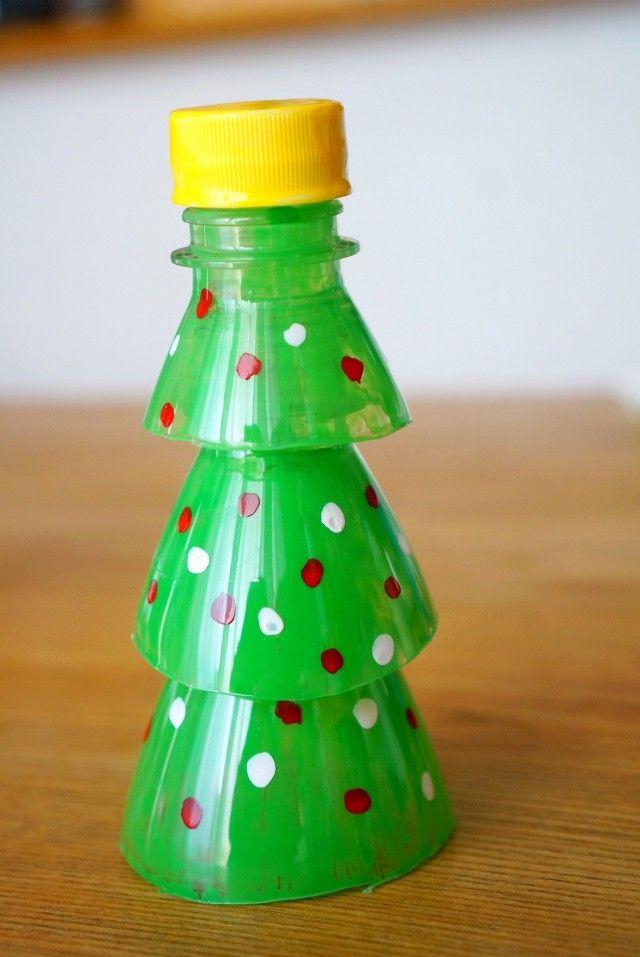 ペットボトルと100均ネイルで簡単 クリスマスツリー 暮らしニスタ クリスマスツリー クリスマス オーナメント クリスマス 子ども