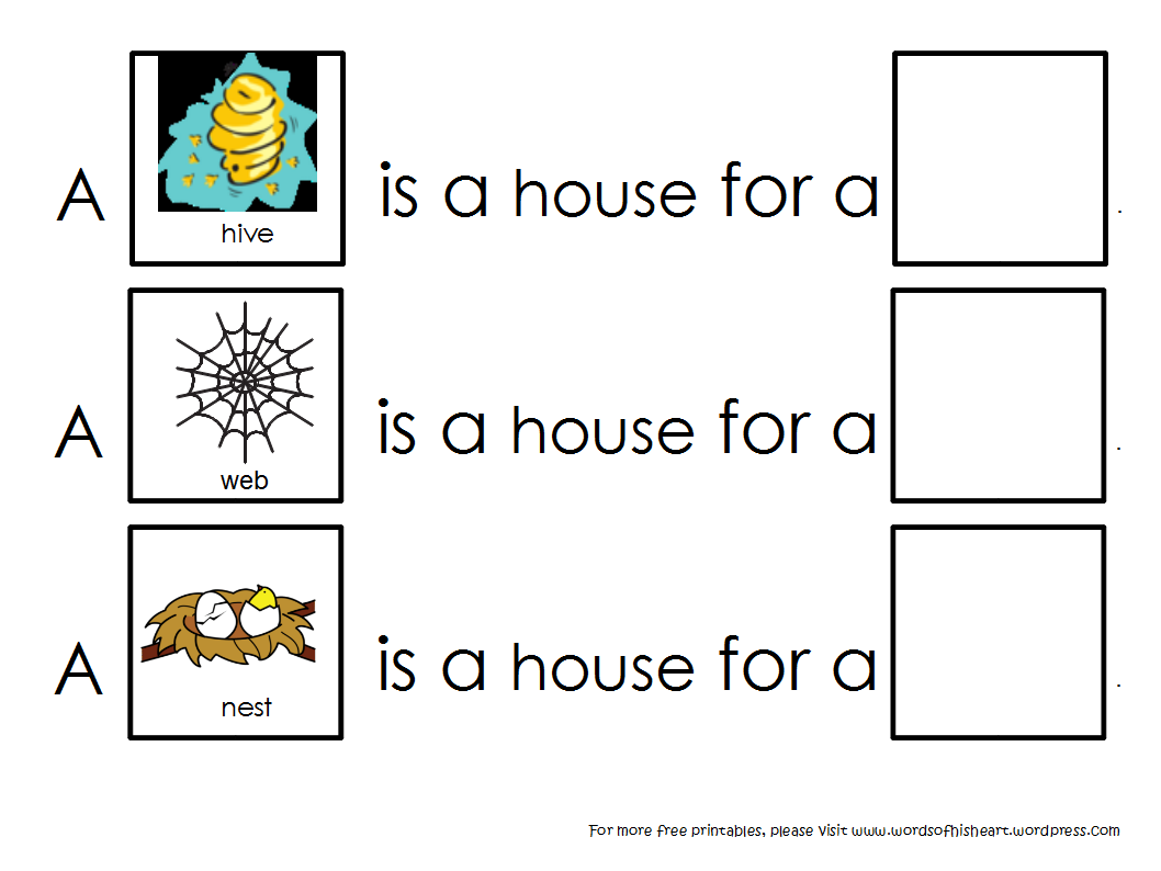 A House Is A House For Me Animal Habitats Habitats