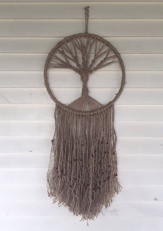 Macrame Tree Of Life Macrame Wall Hanging Tree Of Life Fiber Art
