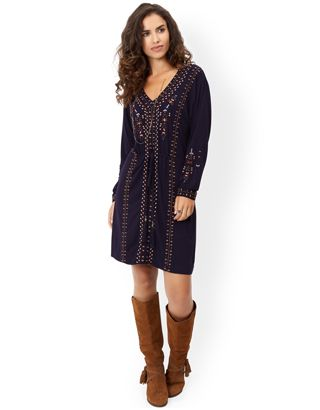 Daenerys Embellished Tunic Dress | Navy | Monsoon | Boho/Beach Looks ...