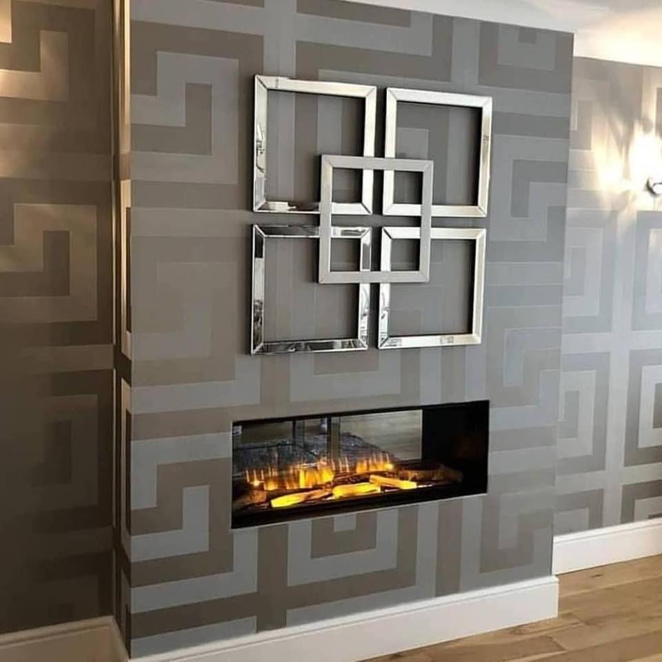 Versace Greek Key Silver Wallpaper 935235 Room wallpaper
