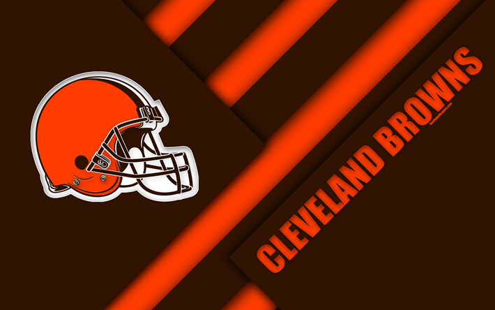 Download Wallpapers Cleveland Browns 4k Logo Nfl Brown Orange Abstraction Material Design American Football Cleveland Ohio Usa National Football Leagu Cleveland Browns Wallpaper Cleveland Browns Cleveland