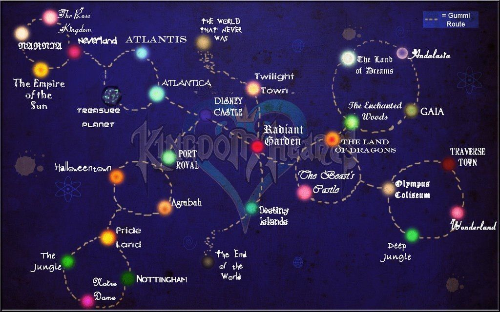 The map I\'ve been needing for so long... | Kingdom hearts ...
