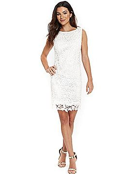 2c7fc836e42 Wallis Crochet Lace Shift Dress - Ivory