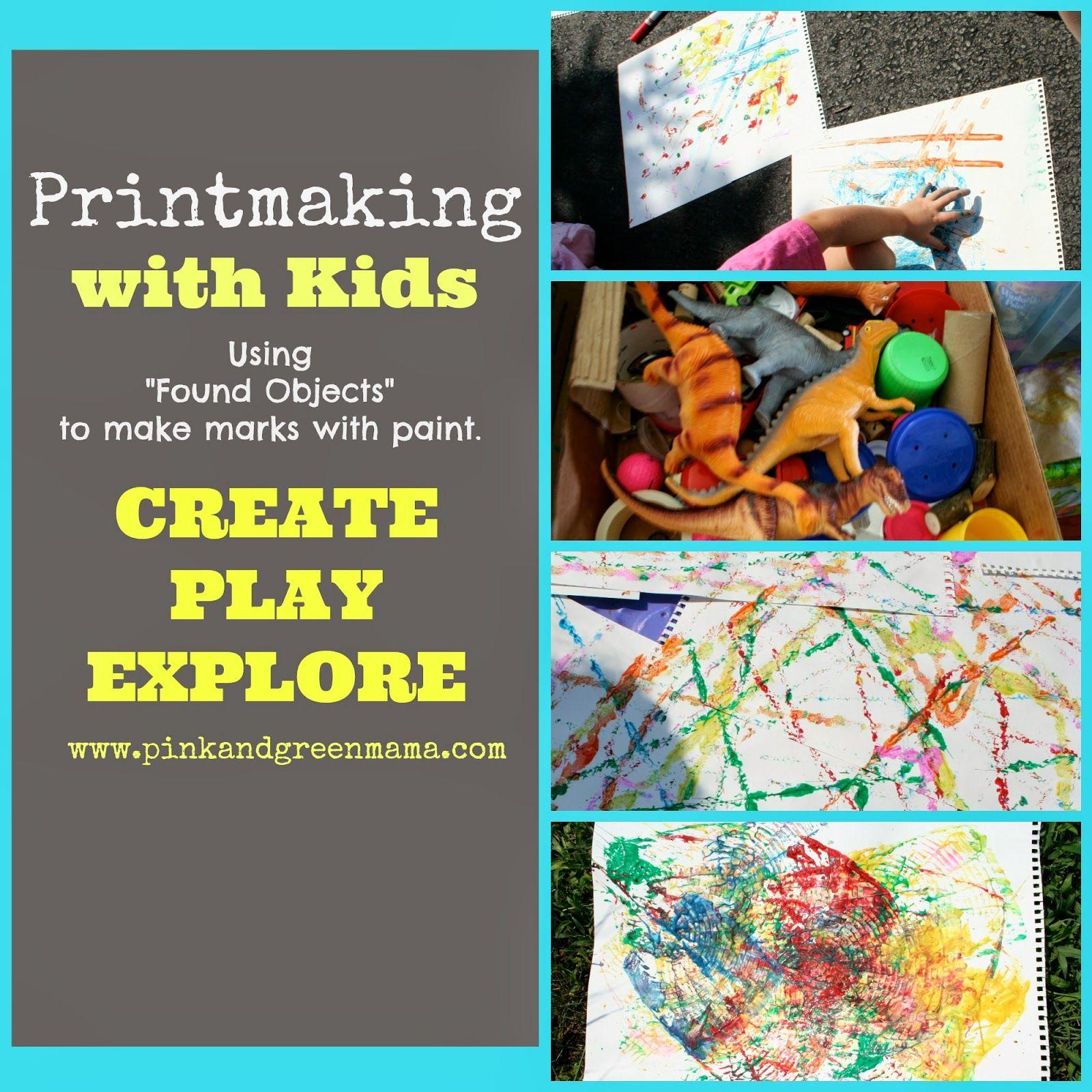 Found Object Printmaking With Kids Met Afbeeldingen Knutselen