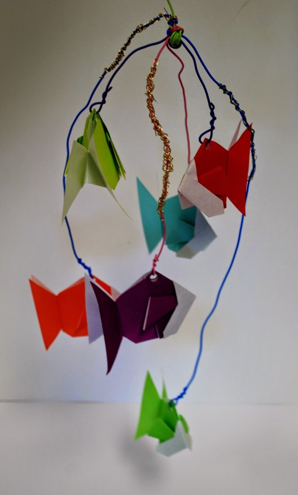 Virginia Heinl's ART Blog: 7th grade Origami mobiles