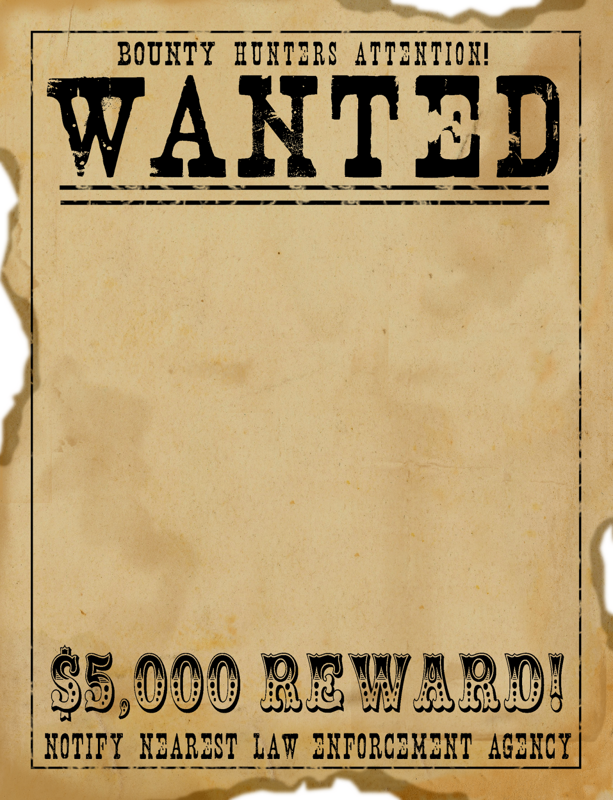 Free Scrapbook Graphics Wild West Wanted Poster – Help Wanted Template Word