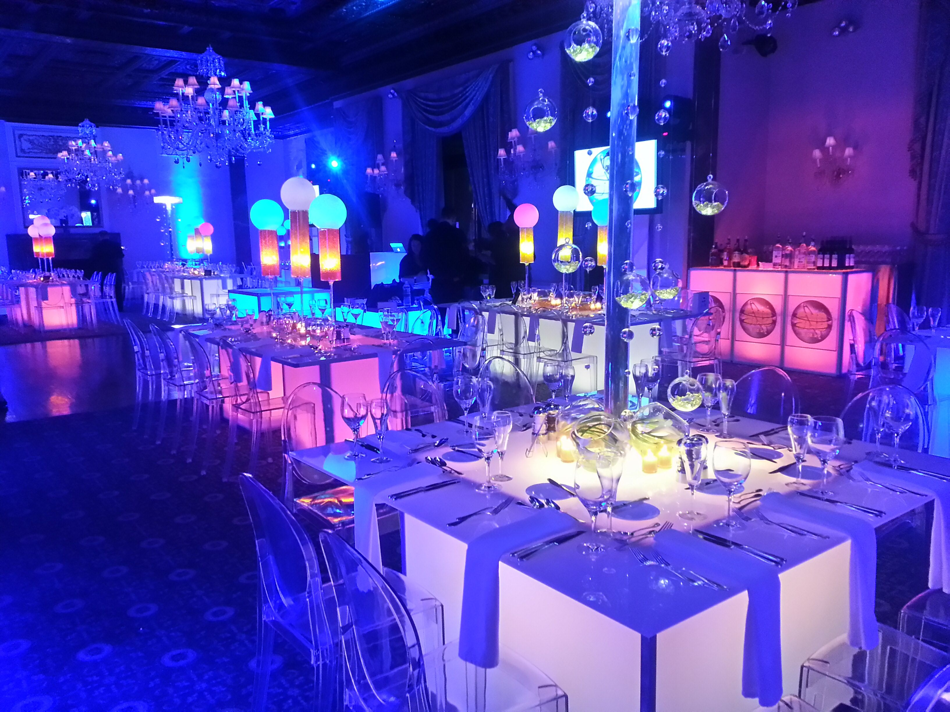 Tags bar and bat mitzvah event decor themes venues - Party Barbara Co Gave The Artifacts Room An Underwater Feel Under The Sea Sweet 16 Pinterest Underwater Sweet 16 And Opening Night