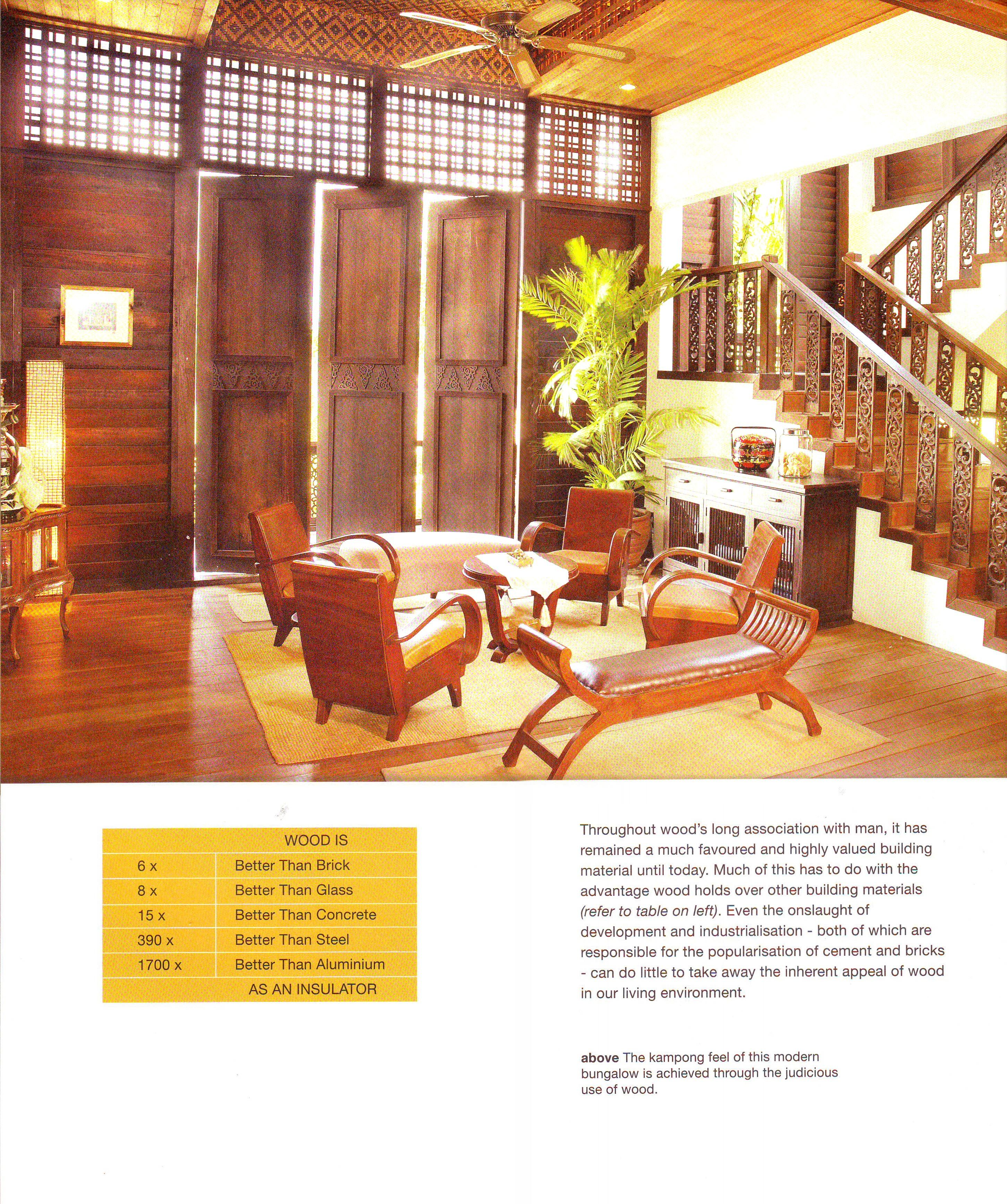 """Bungalow Interior Design Kitchen: Modern Bungalow With A """"kampung"""" Or Traditional Malay"""