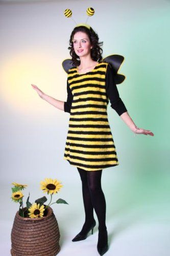 Karneval Damen Kostum Biene Kleid Als Bienenkostum