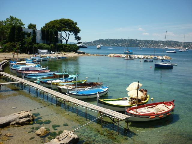 Private mooring Antibes, French coast.