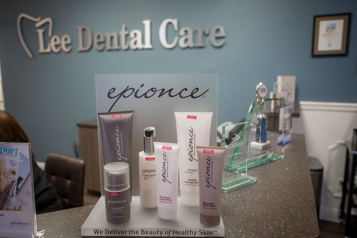 We are so proud to carry Epionce skincare Dental care