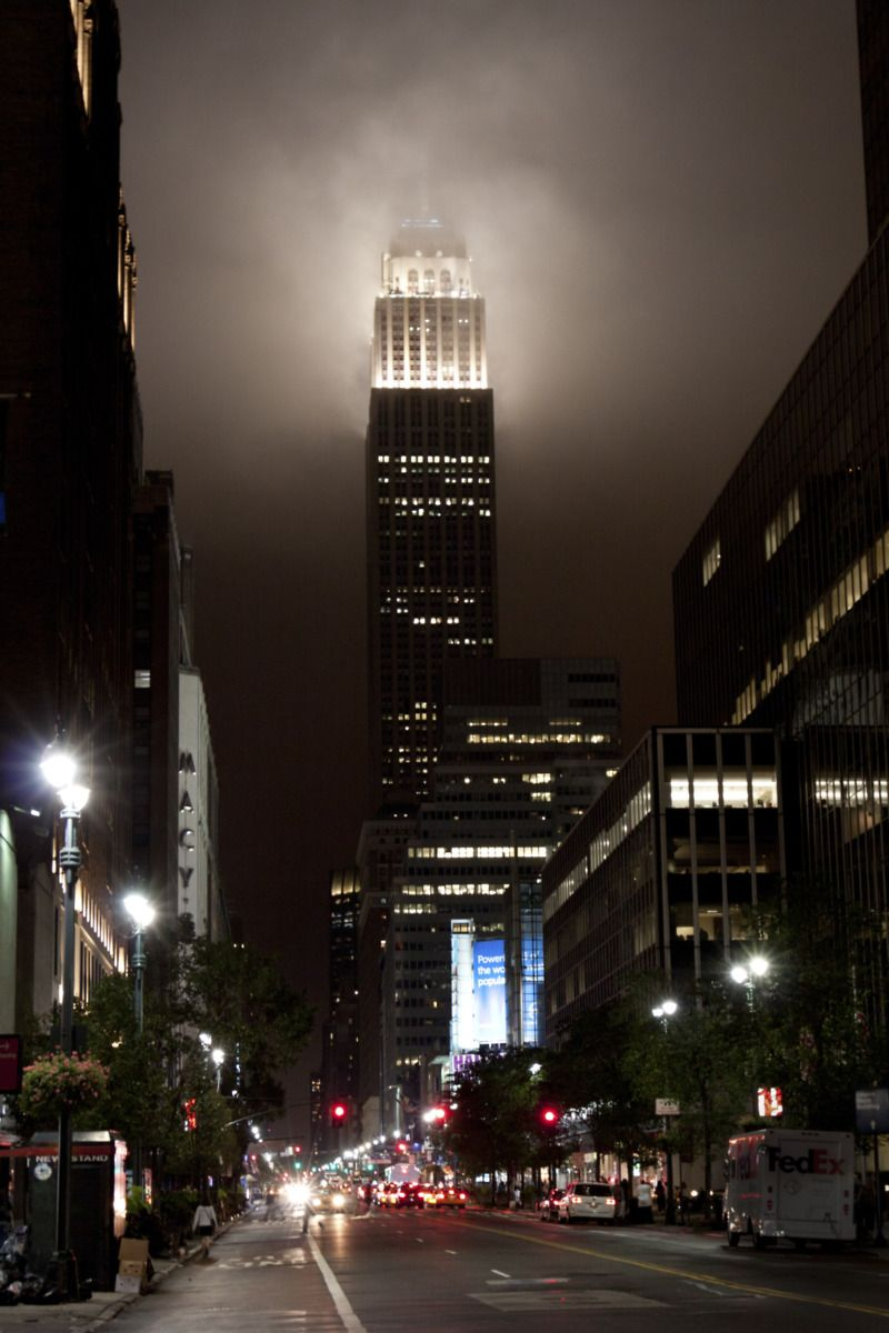 The Empire State building by night. Photo by Alicia Rose.
