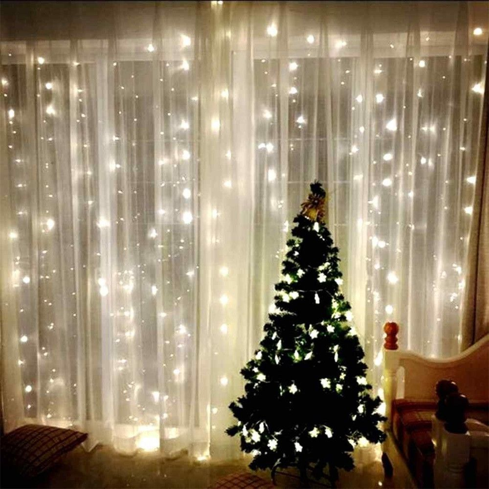 Window decor for wedding  mxm led window curtain lights string fairy lamp wedding party