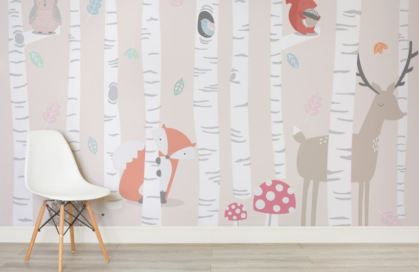 Kids Woodland Scene Wall Mural in 2019 | Kids room murals ...